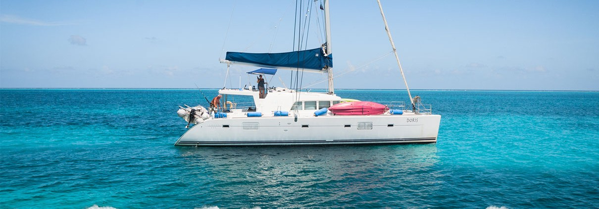 doris luxury lagoon 500 belize catamaran