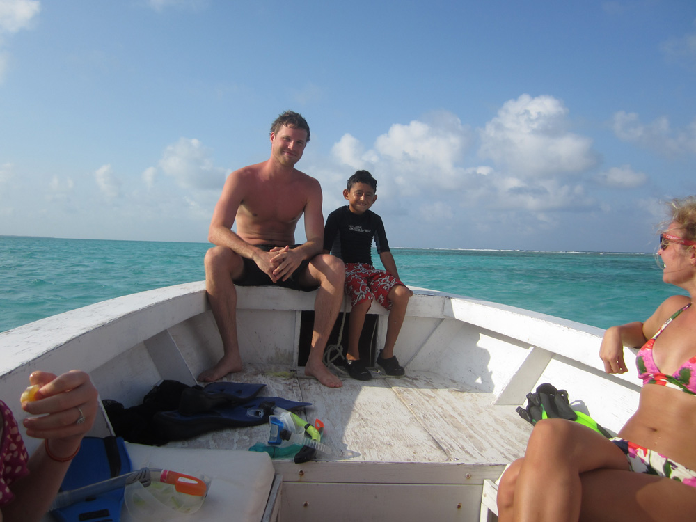 family local kids vacation boat reef snorkel vacation
