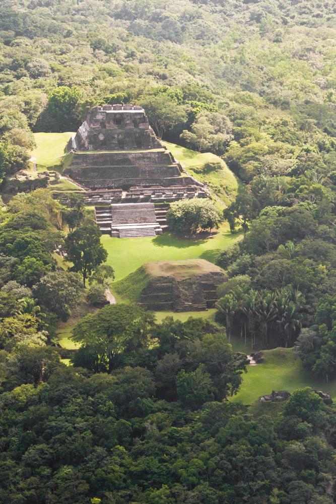 Xunantunich, Maya ruins aerial photo